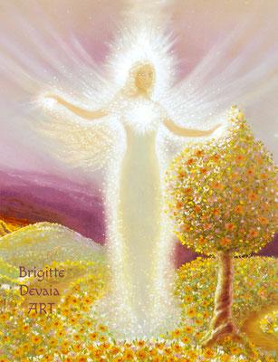 Brigitte-Devaia ART - Mahischahi - Engel des Erblühens in Liebe - Bildausschnitt