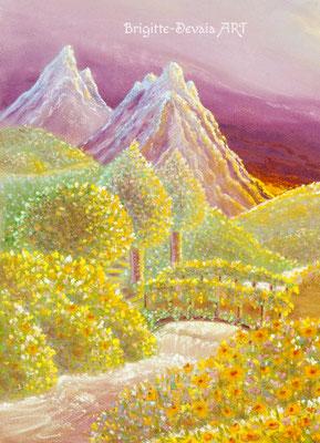 Brigitte-Devaia ART - Naturengel Mahischahi - Engel des Erblühens in Liebe - Auschnitt Ferne