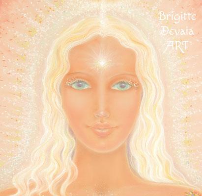 Brigitte-Devaia ART - Sternenfrau Mahoa - Engel der Liebe und körperlichen Liebe - Portrait