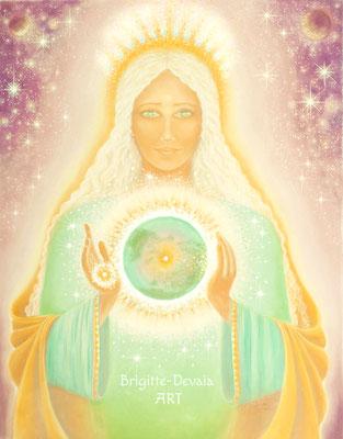 Brigitte-Devaia ART - Weltenmutter Erde - Engel-Geistwesen-Göttin