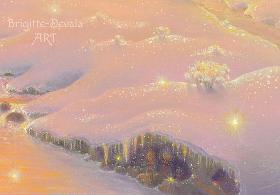 Brigitte-Devaia ART - Haussegen-Engel und Naturzauber - Bildausschnitt Zwerge in einer Eiszapfen- und Kristallhöhle