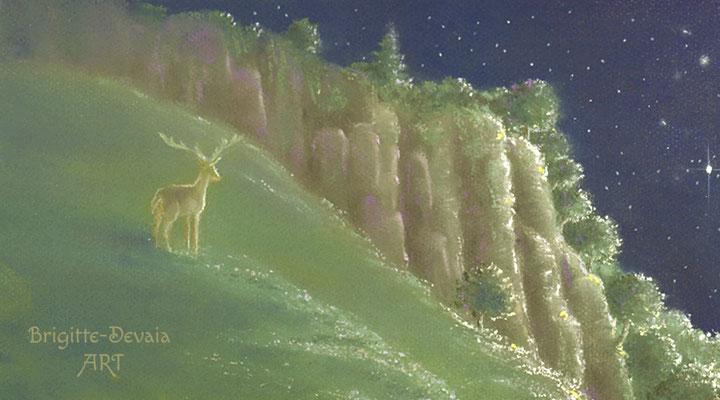 Brigitte-Devaia ART - Rehkitz Schutzengel Fee - Bildausschnitt Berge