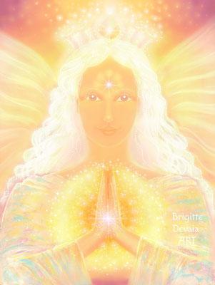 Brigitte-Devaia ART - Amanaa - Engel der Anerkennung innerer Göttlichkeit
