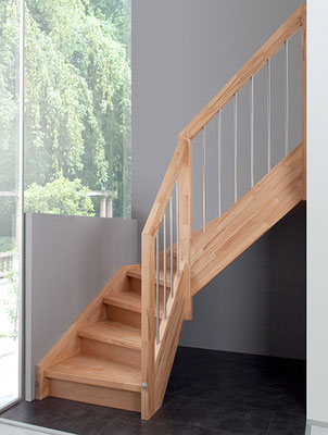 Bucher Treppen - Wangentreppen - Treppe aus Buchenholz