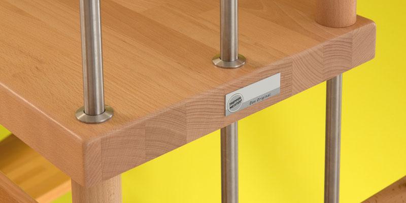 Detail und Metallstäbe VIVA Treppe von Bucher Treppen