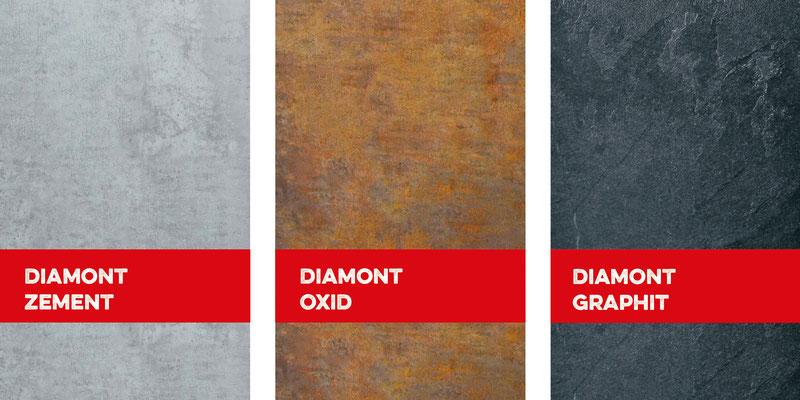 Bucher Treppen - DIAMONT Stufen - 3 Design-Oberflächen zur Auswahl