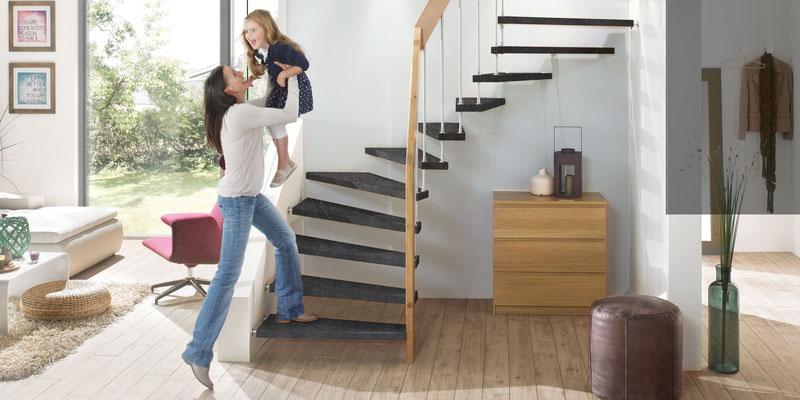 Bucher Treppen - DAIMONT Stufen - robust und kratzfest