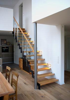 Bucher Treppen - Treppenmodell Ferro - schlicht und reduziert