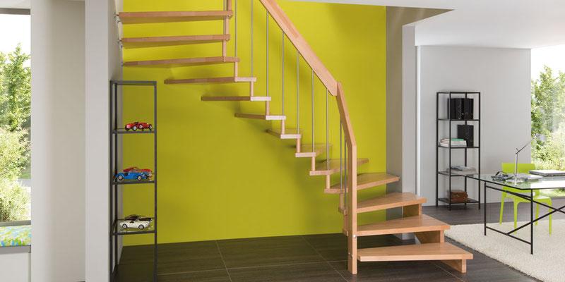 Buchenholztreppe - VIVA Treppe von Bucher Treppen