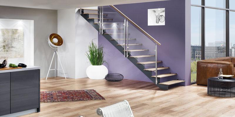 Bucher Treppen - Treppenmodell AIR - schwerelose Wirkung