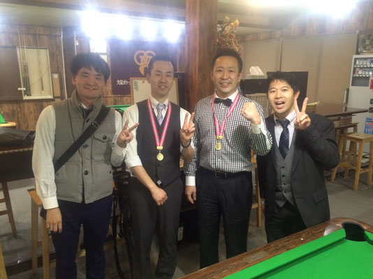 ワマッキー、ふじもっちゃん、おめでとう!竹原氏と平松ちゃんも、惜しかった!
