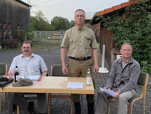 Thomas Krämer, Hubertus Sarges und Reiner Klinkel