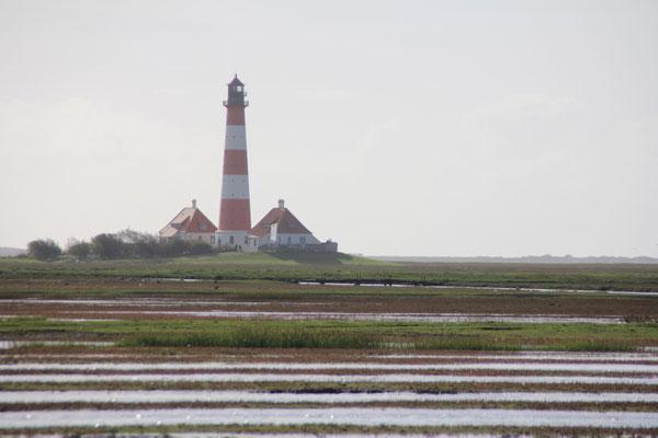 Den Westerhever Leuchtturm erreichen Sie vom Haus aus entspannt zu Fuß oder mit dem Fahrrad