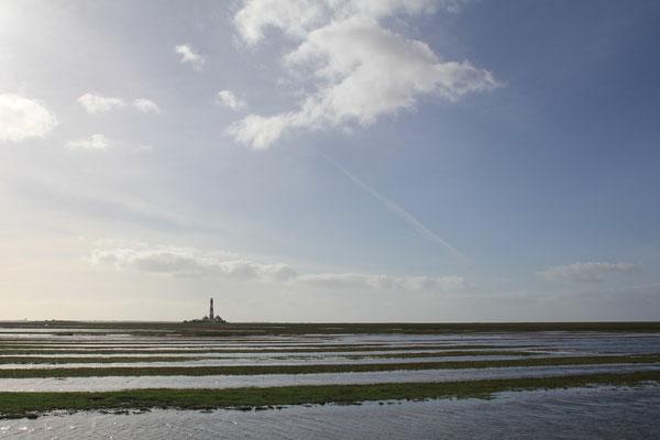 Der Westerhever Leuchtturm ist das Wahrzeichen der Region und ist vom Seegut aus zu Fuß oder mit dem Fahrrad zu erreichen