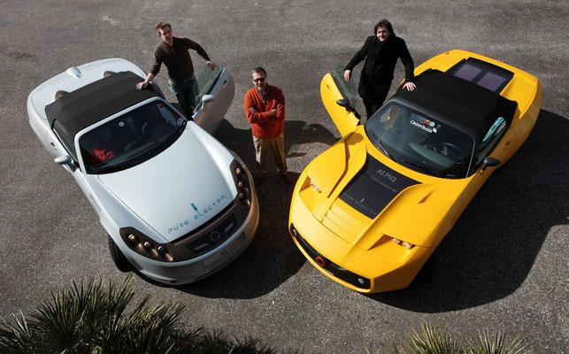 """2010: Der Nachfolger """"Lampo22"""" wurde in nur 9 Monate aufgebaut - auch dank den EVTEC-Gründern Markus Kramis und Roland Bucher."""