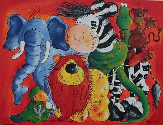 """""""Wildlife"""" - Leinwand 60 x 80 cm - Preis: 395,00 Euro"""