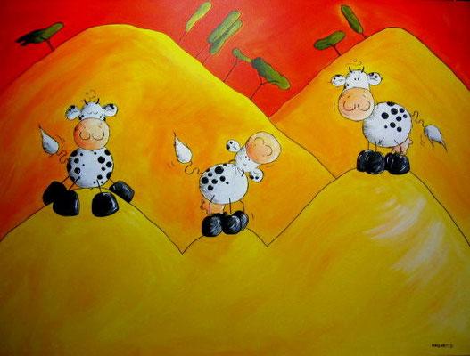 """""""Kuh Oasis"""" - 60 x 80 cm Leinwand - Preis: 220,00 Euro"""