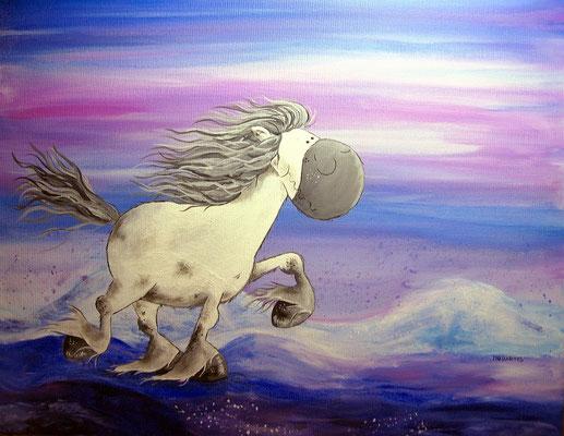 Leinwand 50 x 40 cm - Islandpferd, Isländer - Preis: 310,00 Euro