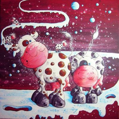 """""""Milchstrasse"""" - Leinwand 50 x 50 cm - Preis: 420,00 Euro"""