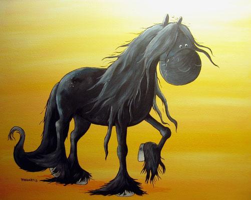 """""""Black Pearl"""" - Leinwand 50 x 40 cm - Preis: 190,00 Euro"""