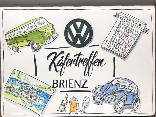 Simply-NeW-Art-Nelly-Wüthrich-Kehrli-Sketchnotes-VW-Käfer-Treffen-Brienz-Schweiz