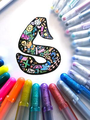 Simply-NeW-Art-Nelly-Wüthrich-Kehrli-Handlettering-Brushlettering-Calligraphy-Workshops-Kinder-Jugendliche-Erwachsene-Brienz-Thun-Gwatt-Wichtrach-S-Script-Font