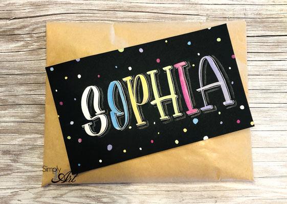 Simply-NeW-Art-Nelly-Wüthrich-Handlettering-Brushlettering-Geburtstagskarte-Sophia