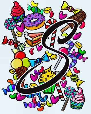 Simply-NeW-Art-Nelly-Wüthrich-Brienz-Bern-Schweiz-Procreate-Lettering-Sketchnotes-Drawing-Sweets