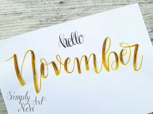 Simply-NeW-Art-Nelly-Wüthrich-Handlettering-Brushlettering-Faux-Calligraphy-Lettering-Kinder-Workshop-Bern-Brienz-Thun-Gwatt-Wichtrach-Hello-November
