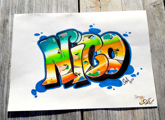 Simply-NeW-Art-Nelly-Wüthrich-Kehrli-Handlettering-Brushlettering-Faux-Calligraphy-Lettering-Kinder-Workshop-Bern-Brienz-Thun-Gwatt-Wichtrach-Grafitti