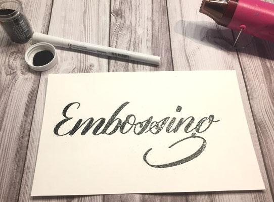 Simply-NeW-Art-Nelly-Wüthrich-Kehrli-Handlettering-Brushlettering-Faux-Calligraphy-Lettering-Kinder-Workshop-Bern-Brienz-Thun-Gwatt-Wichtrach-Embossing