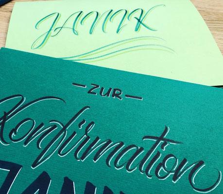 Simply-NeW-Art-Nelly-Wüthrich-Kehrli-Handlettering-Brushlettering-Calligraphy-Workshops-Kinder-Jugendliche-Erwachsene-Brienz-Thun-Gwatt-Wichtrach-Konfirmationskarte