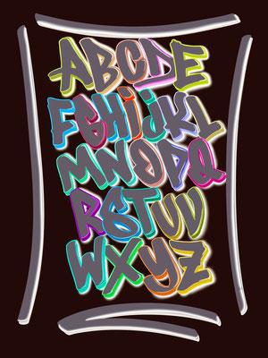 Simply-NeW-Art-Nelly-Wüthrich-Kehrli-Brienz-Schweiz-Brienzersee-Schwan-Procreate-Lettering-Handlettering-Brushlettering, Alphabet