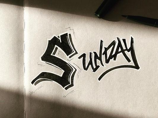 Simply-NeW-Art-Nelly-Wüthrich-Kehrli-Handlettering-Brushlettering-Calligraphy-Workshops-Kinder-Jugendliche-Erwachsene-Brienz-Thun-Bern-Sunday