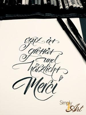 Simply-NeW-Art-Nelly-Wüthrich-Handlettering-Brushlettering-Faux-Calligraphy-Lettering-Kinder-Workshop-Bern-Brienz-Thun-Gwatt-Wichtrach-Merci-Danke