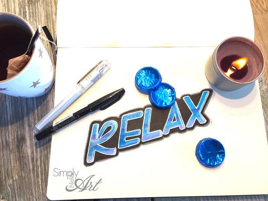 Simply-NeW-Art-Nelly-Wüthrich-Handlettering-Brushlettering-Faux-Calligraphy-Lettering-Kinder-Workshop-Bern-Brienz-Thun-Gwatt-Wichtrach-Relax