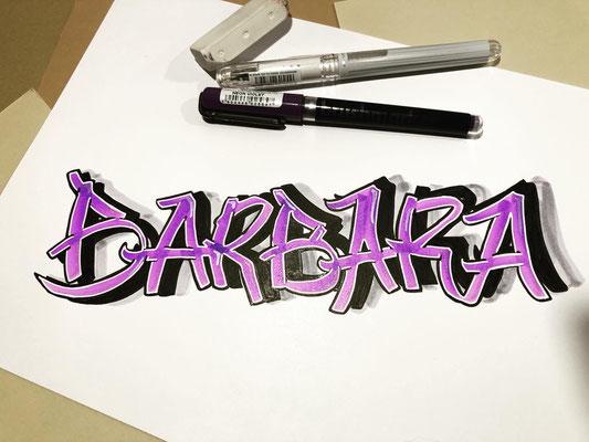 Simply-NeW-Art-Nelly-Wüthrich-Kehrli-Handlettering-Brushlettering-Calligraphy-Workshops-Kinder-Jugendliche-Erwachsene-Brienz-Thun-Gwatt-Wichtrach-Barbara