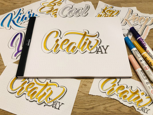 Simply-NeW-Art-Nelly-Wüthrich-Handlettering-Brushlettering-Faux-Calligraphy-Lettering-Kinder-Workshop-Bern-Brienz-Thun-Gwatt-Wichtrach-Creativ-Day