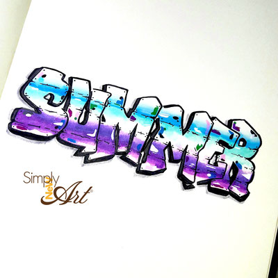 Simply-NeW-Art-Nelly-Wüthrich-Handlettering-Brushlettering-Faux-Calligraphy-Lettering-Kinder-Workshop-Bern-Brienz-Thun-Gwatt-Wichtrach-Summer