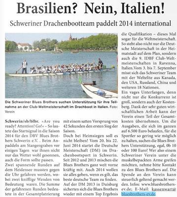 Schweriner Blitz den 01.06.2014