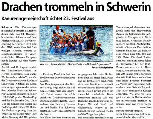 Schweriner Zeitung den 23.08.2014