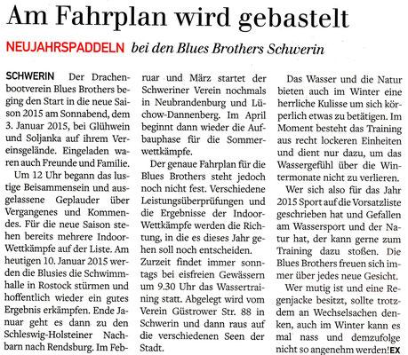 Schweriner Express den 10.01.2015
