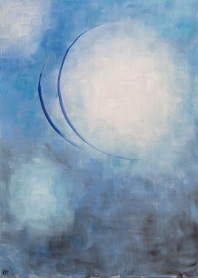 »Blau 2«  Öl/Leinwand  50 x 70 cm