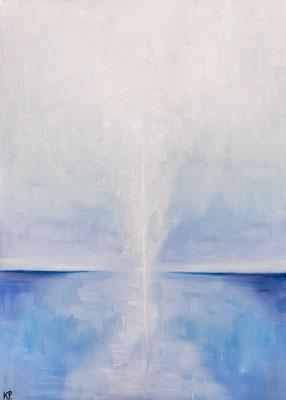 »Blau 1«  Öl/Leinwand  50 x 70 cm