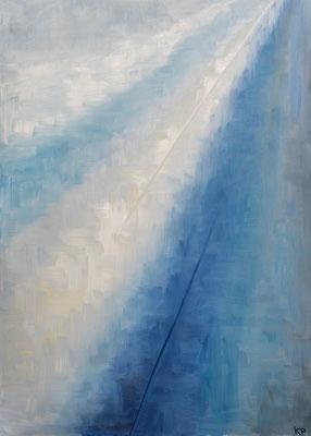 »Blau 4«  Öl/Leinwand  50 x 70 cm