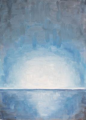 »Blau 3«  Öl/Leinwand  50 x 70 cm