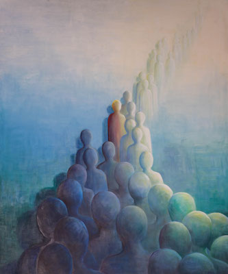 »Transformation«  Öl/Leinwand  100 x 120 cm