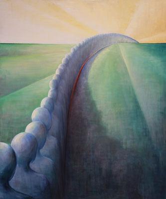»Mauer«  Öl/Leinwand  100 x 120 cm