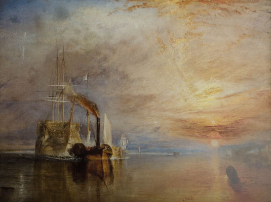 William Turner   »The Fighting Temeraire«  Öl/Leinwand  122 x 91 cm  -Kopie- K.Pillon
