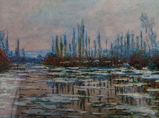 Claude Monet   »Die Seine bei Eisgang«  Öl/Leinwand  90 x 60 cm